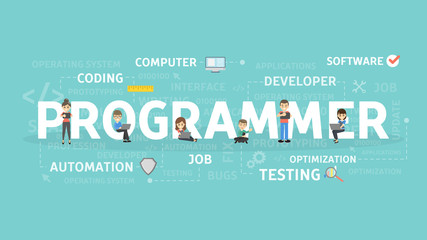 Programmer illustration concept.
