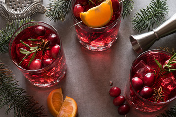 Celebrating the holidays with Cranberry Vodka Spritzers