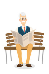Old man reading.