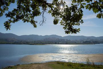 Lake at Great Park of Tirana, Albania