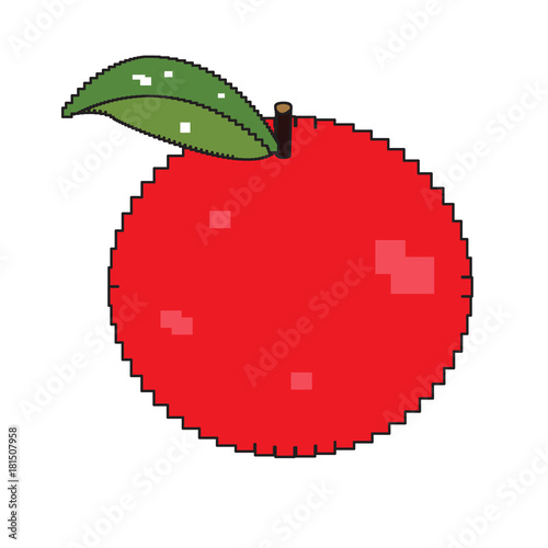 """Isolated Pixelated Apple"" Stock Image And Royalty-free"