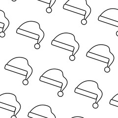 hat for santa christmas celebration seamless pattern image