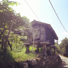 Tipical granary in Galicia Spain