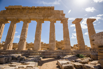 The ancient Greek temple in Selinuntea, Sicily, Italy.