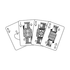 poker playing cards ace jack queen and king spade leisure