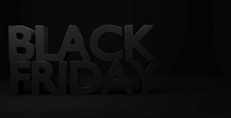 Dark Black Friday 3D text