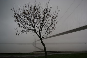 Humber Bridge in the Fog, east yorkshire weather
