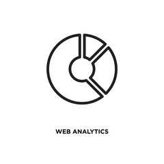 Web analytics vector icon