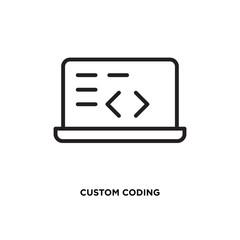 Custom coding vector icon