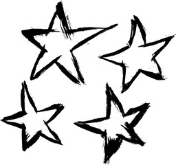 Vector Brushed Stars
