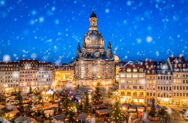 Advent auf dem Neumarkt in Dresden