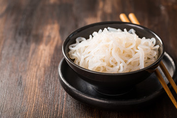 Shirataki noodles (Konjac) - japanese food