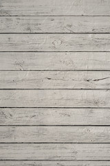 White wood texture background. Horizontal wood planks