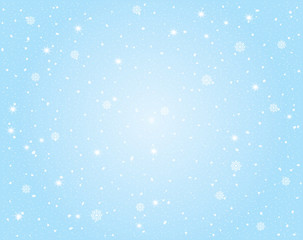 Vector Winter Landscape with Sky and Snow Background