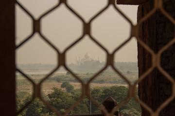 Fernblick auf das Taj Mahal