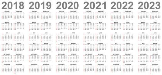 Calendario 2020 Editable Illustrator.Simple Editable Vector Calendars For Year 2017 2018 2019