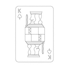 king of clover or clubs french playing cards related icon image vector illustration design