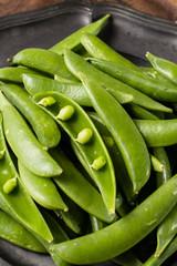 Fresh green sweet pea beans
