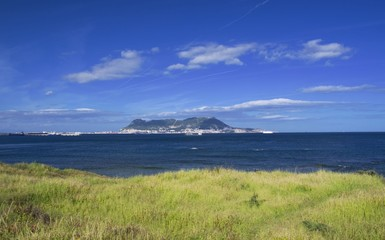 View from Parque de Centenario to Gibraltar