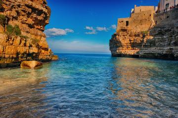 Morze i plaża w Bari, Polignano a Mare