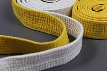 Martial art belt close up background