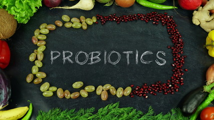 Probiotics fruit stop motion