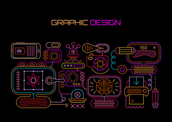 Graphic Design neon