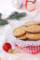 Christmas cookies and New Year decorations