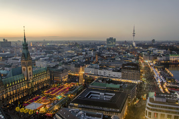 christmas time in Hamburg with christmas market