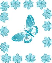 бабочка с листьями