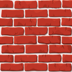 Nice vector seamless red brick wall square pattern