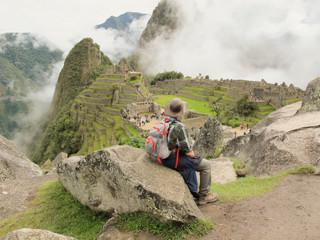Machu Picchu Peru Tired Hiker