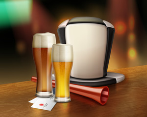 Acessories of fan with beer