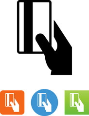 Hand Swiping Credit Card Icon