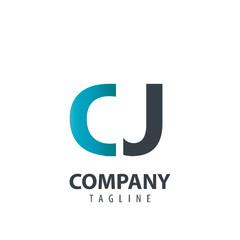 Initial Letter CJ Design Logo