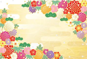 和柄 カラフル 花柄