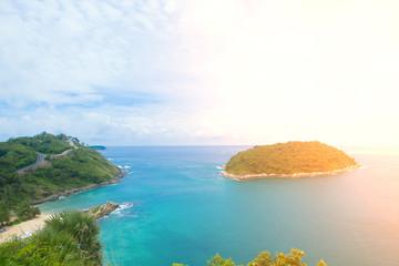 Island beach summer blue landscape