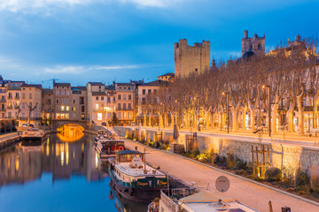 Pont des Marchands in Narbonne, France