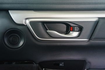Door handle inside the car, Button locking doors