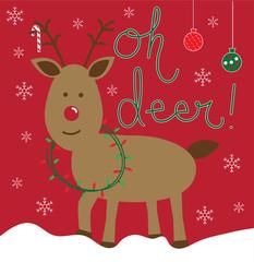 Oh Deer Christmas Reindeer