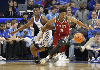 NCAA Basketball: Troy at Kentucky