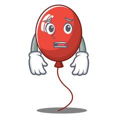 Afraid balloon character cartoon style