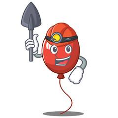 Miner balloon character cartoon style