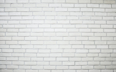 Background of the white brick wall