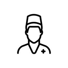 Nurse line icon