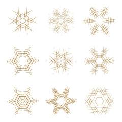 Vector Christmas snowflakes set