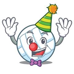 Clown volley ball character cartoon