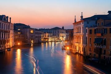 Venice canal sunset