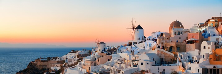 Santorini skyline sunset