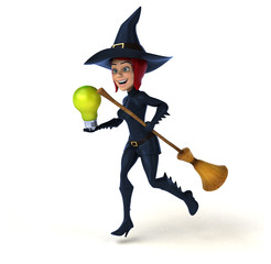Sexy witch - 3D Illustration